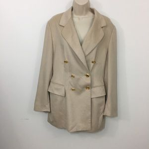 ESCADA Beige Angora Wool Blazer Double Breasted